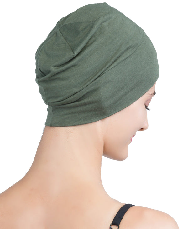 Wrap-fit Sleep Cap - Khaki