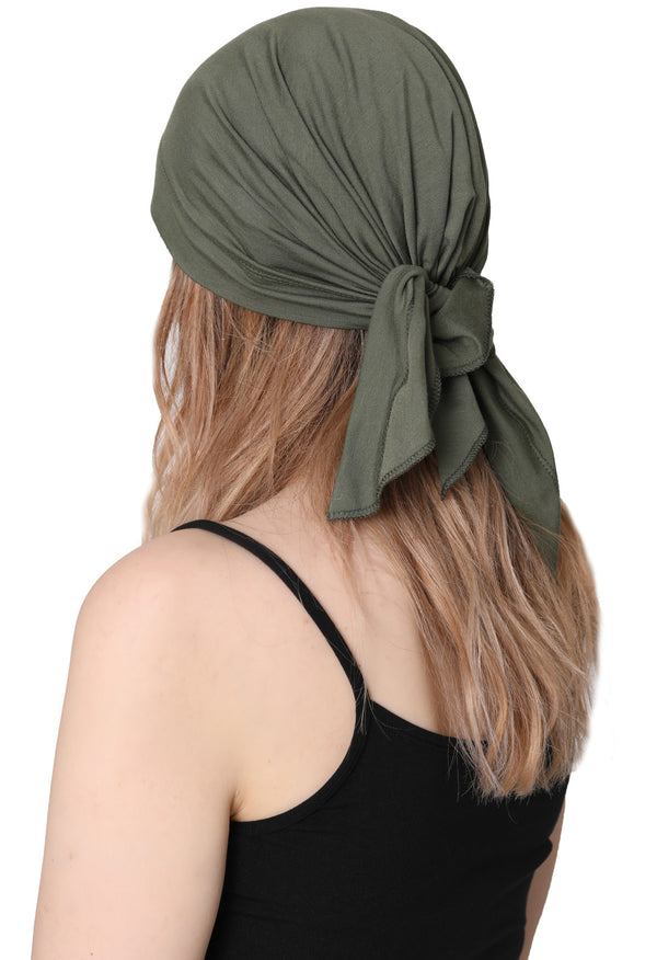 Simple Tie Bandana - Khaki