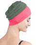 Wrap-fit Sleep Cap - Khaki Coral