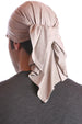 cotton chemo bandana for men taupe