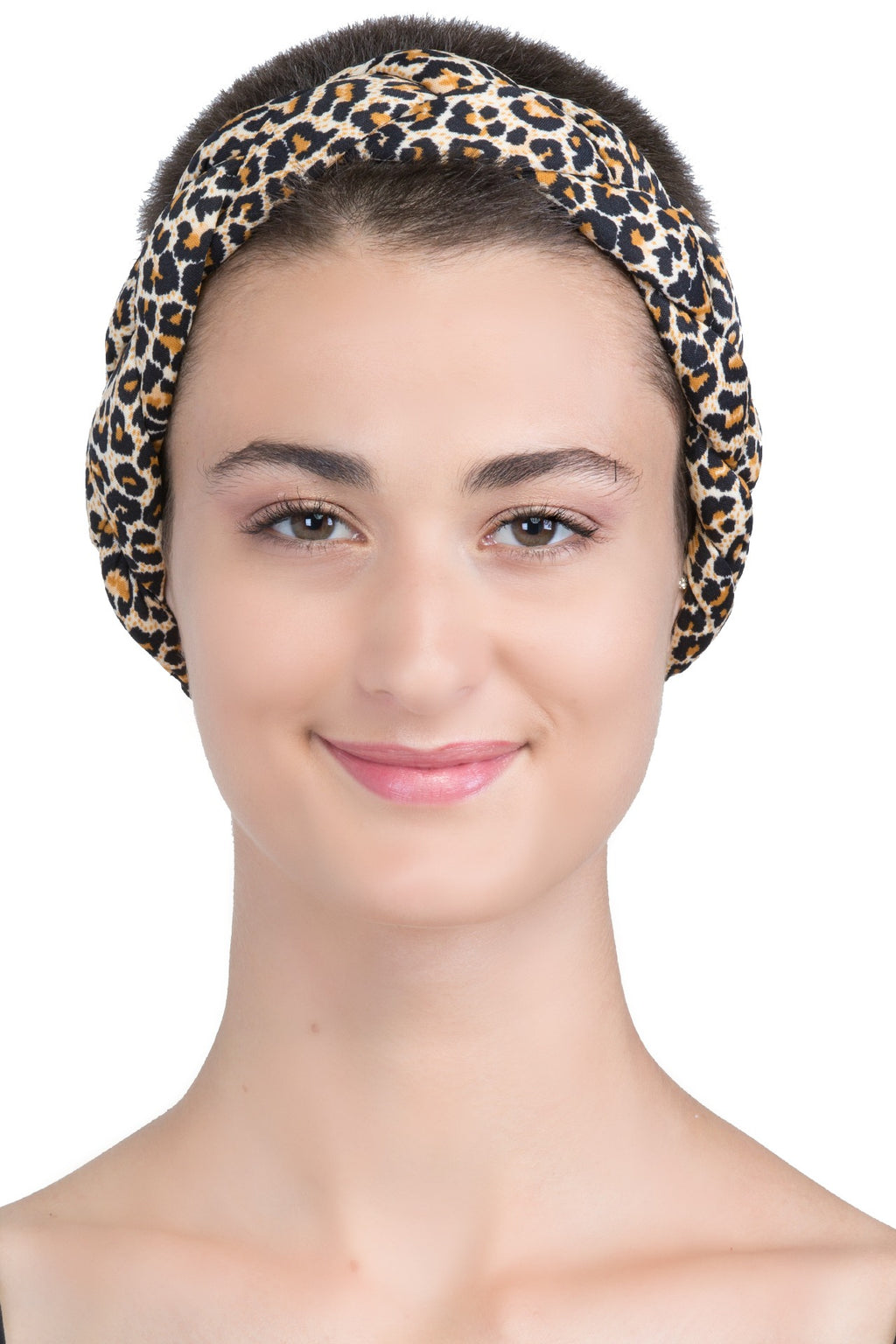 Braided Hairband, Headband (Leopard)