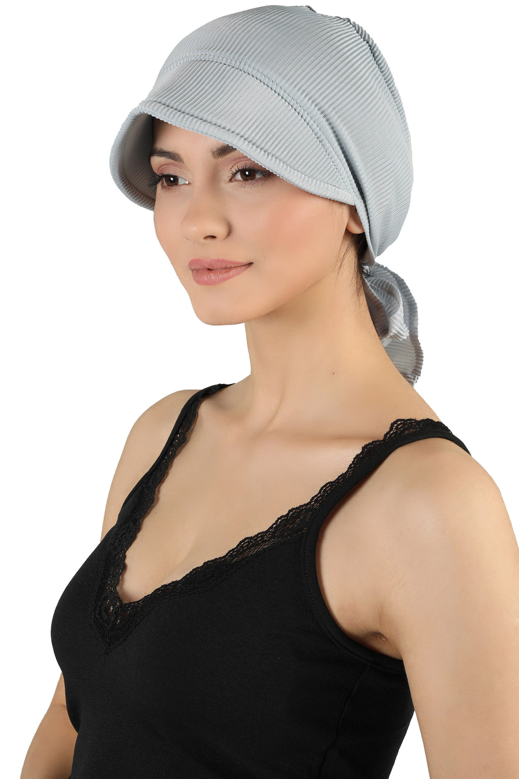 Tie Back Casual Pretty Hat - Light Grey