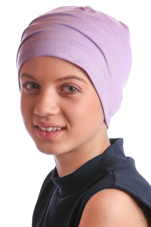 Deresina teen beanie for hairloss lilac