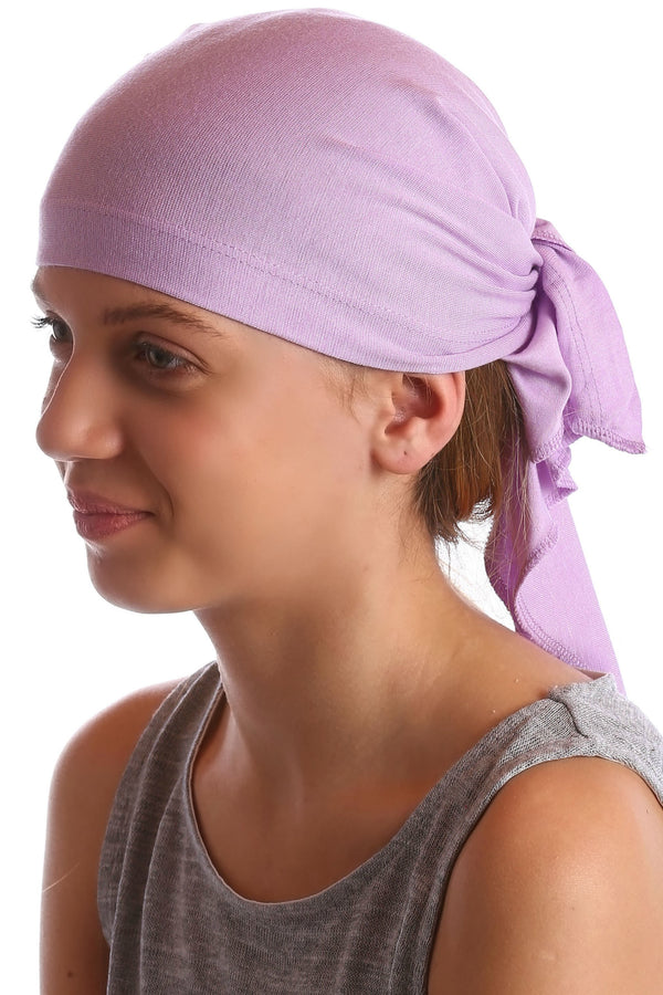Deresina Teen indoor bandana for hairloss lila