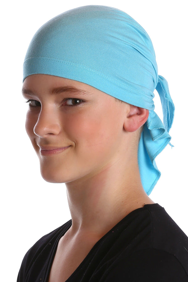 Deresina Teen indoor bandana for hairloss maya blue