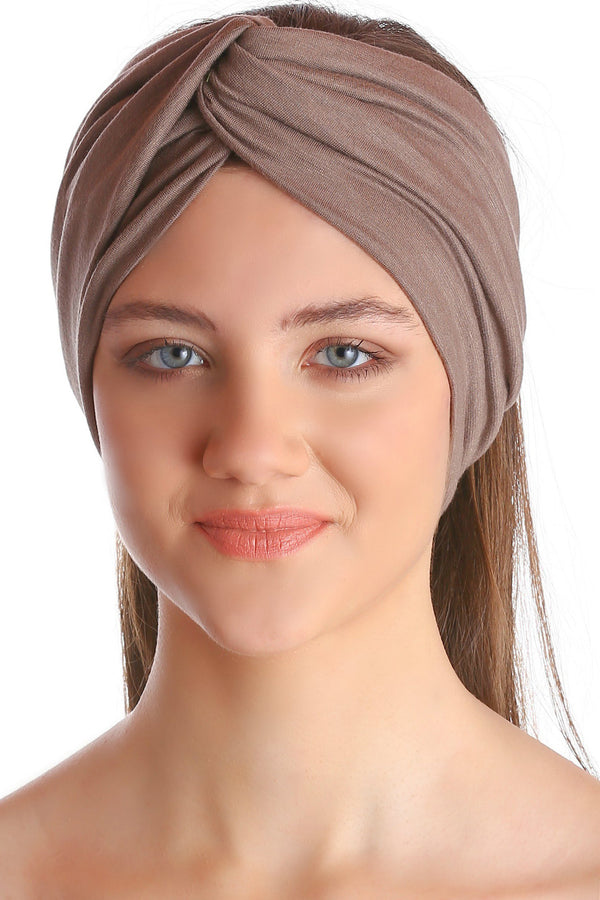 Cross Headband - Mink