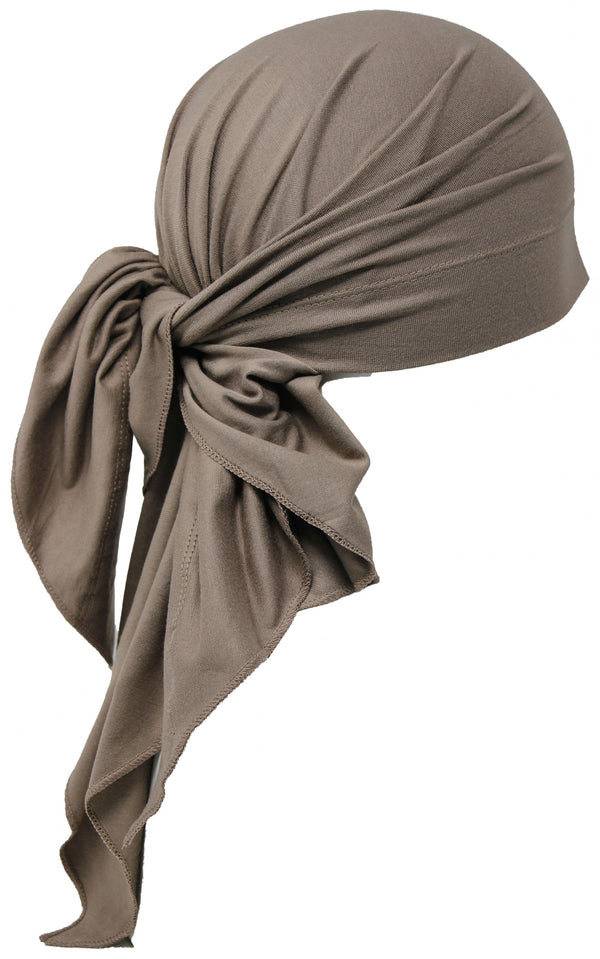 Deresina Large Cotton chemo bandana for men mink