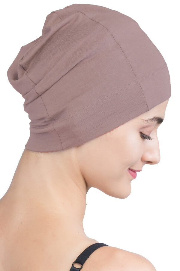 Snug Fit Sleep Cap - Mink