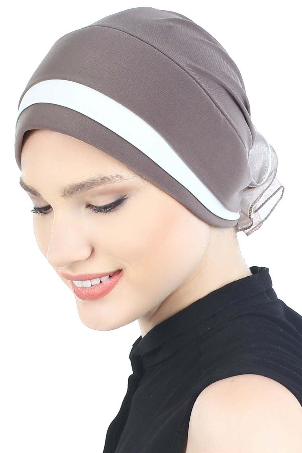 Deresina Padded hat for cancer patients mink cream