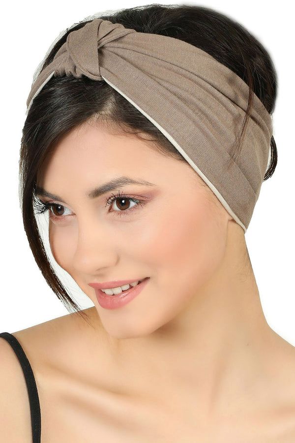 Reversible Headband-Mink/Taupe