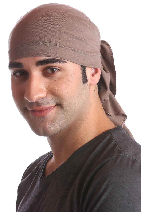 cotton chemo bandana for men mink