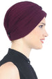 Deresina Pearl detail turban for cancer patients mulberry