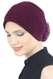 Deresina Padded hat for cancer patients mulberry