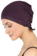 Jewelled Front Essential Cap -  Mulberry