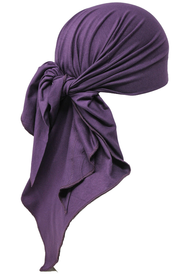 Large Cotton Bandana for Men - Mulberry