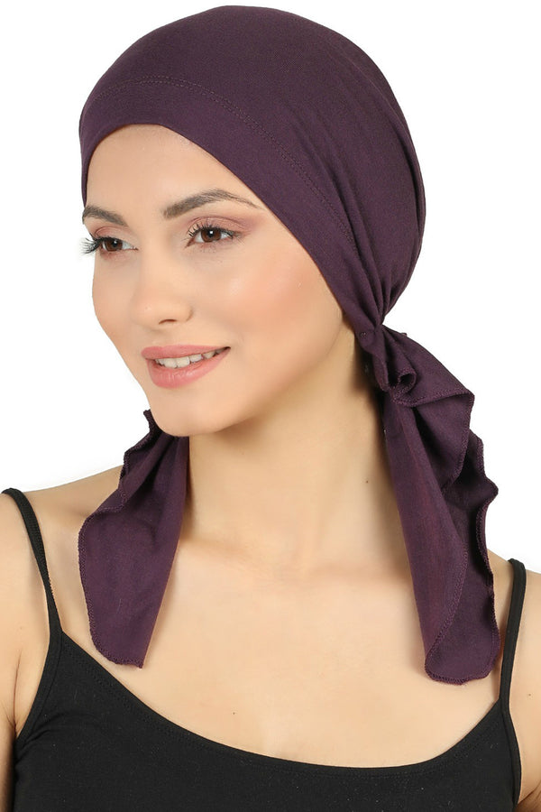 Pre tied Cotton Bandana - Mulberry