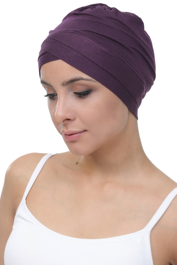W Front Cotton Cap - Mulberry