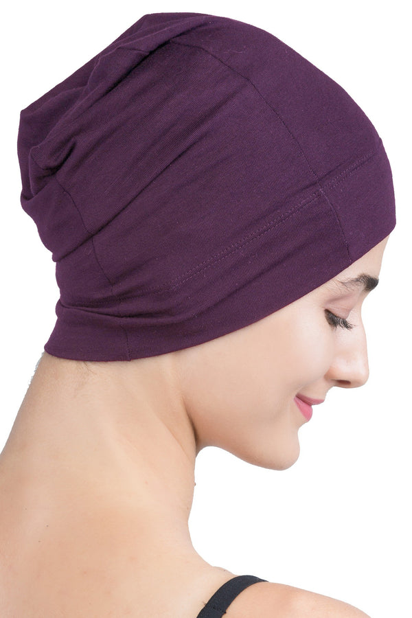 Snug Fit Sleep Cap - Mulberry