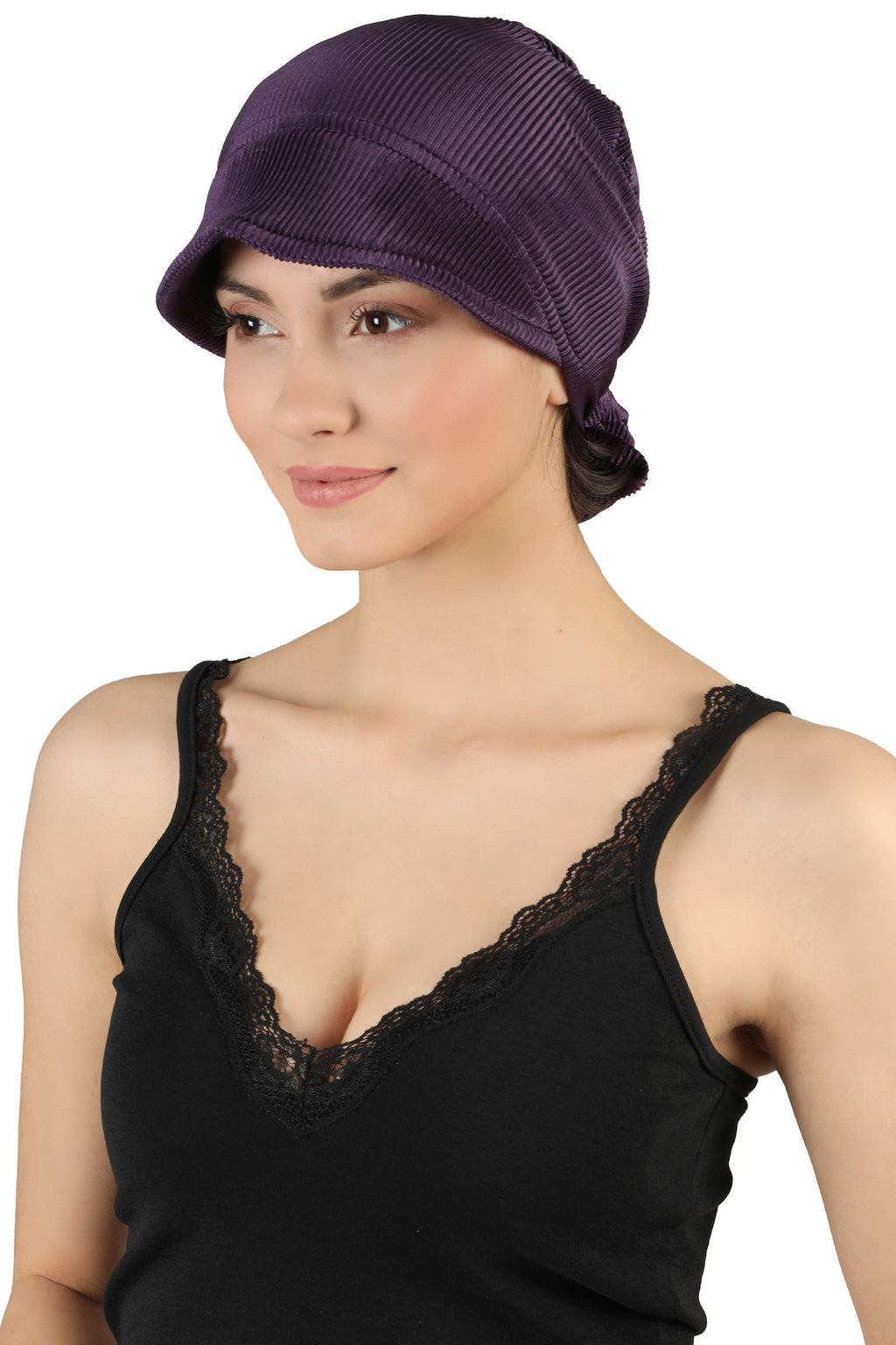 Tie Back Casual Pretty Hat - Mulberry