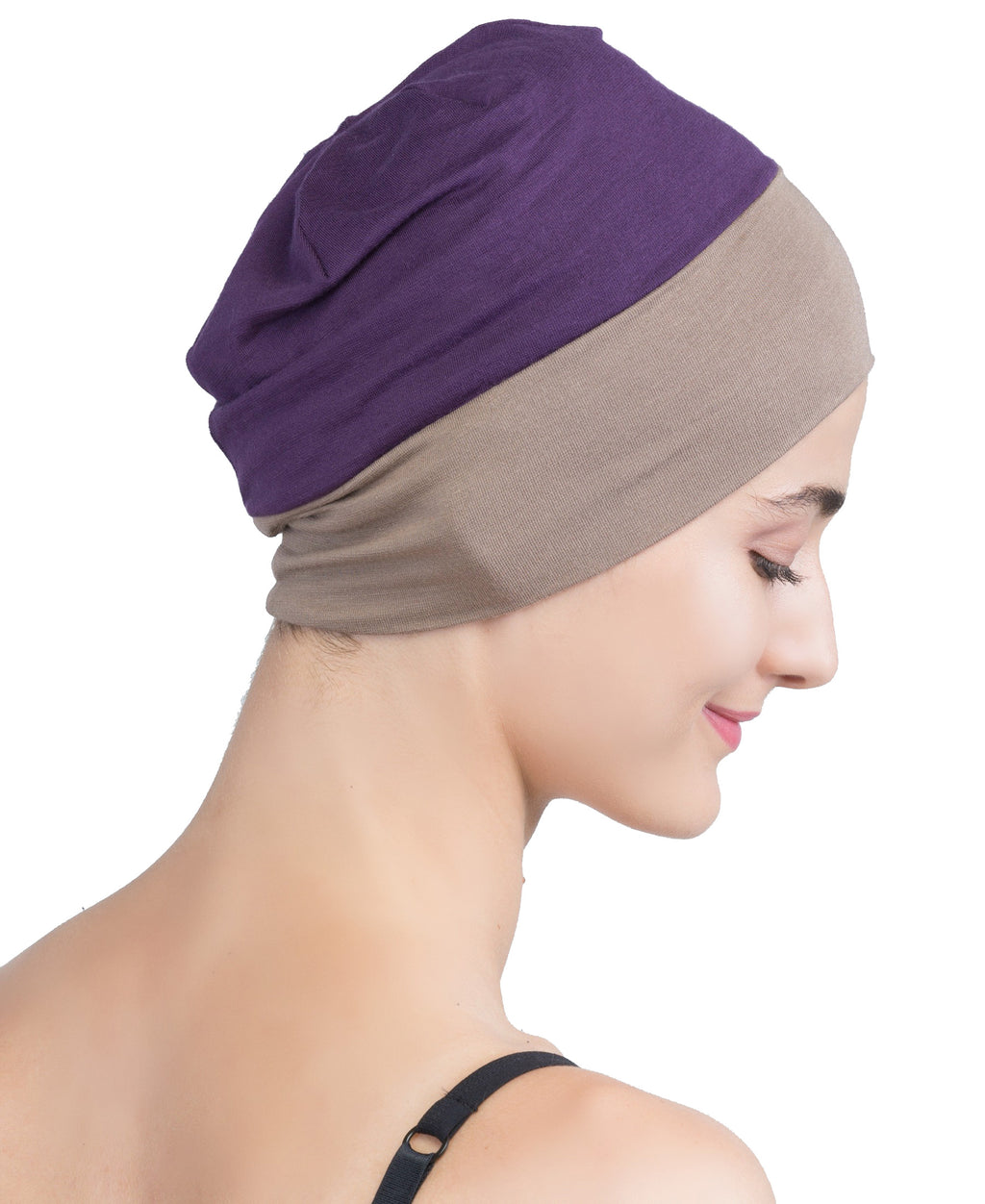 Wrap-fit Sleep Cap - Mulberry Mink