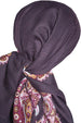 Winter Cotton Square Head Scarf - Mulberry