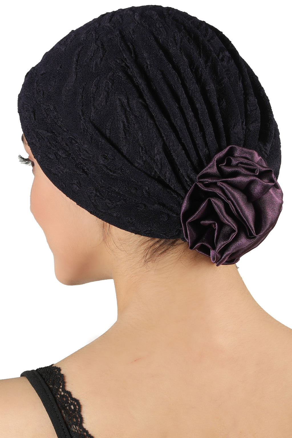Rose Headwear - Deep Purple