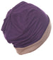Reversible Beanie for Men - Mulberry/Mocha