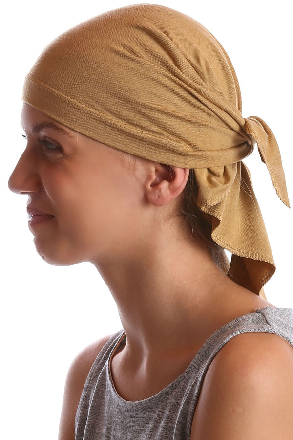 Deresina Teen indoor bandana for hairloss camel