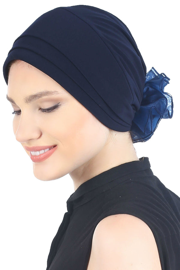 Deresina Padded hat for cancer patients navy