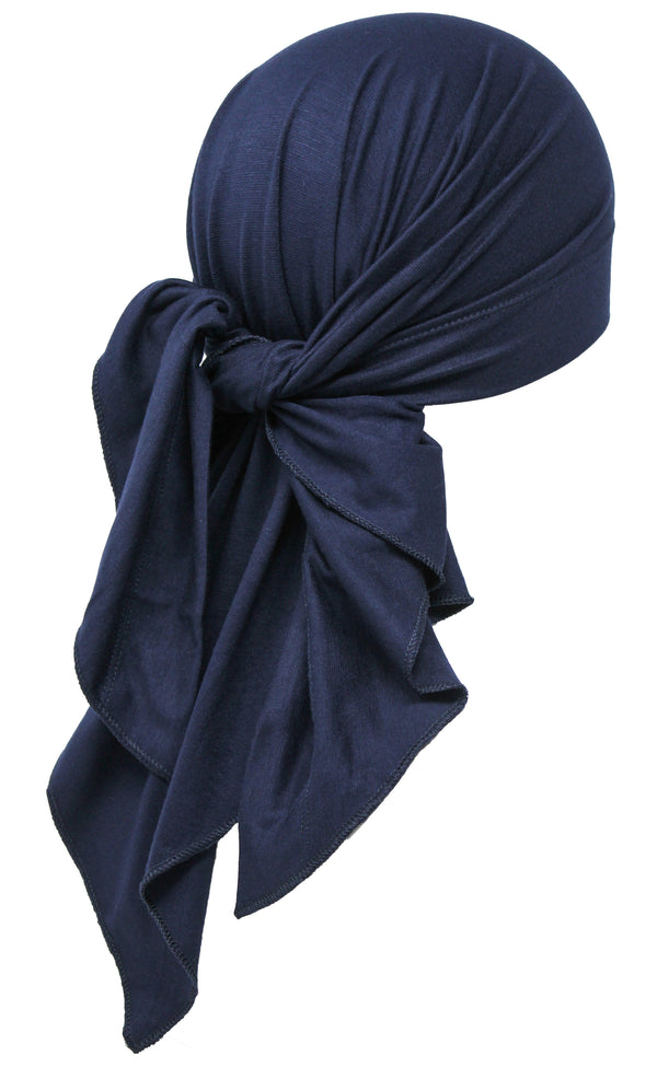 Large Cotton Bandana for Men - Navy