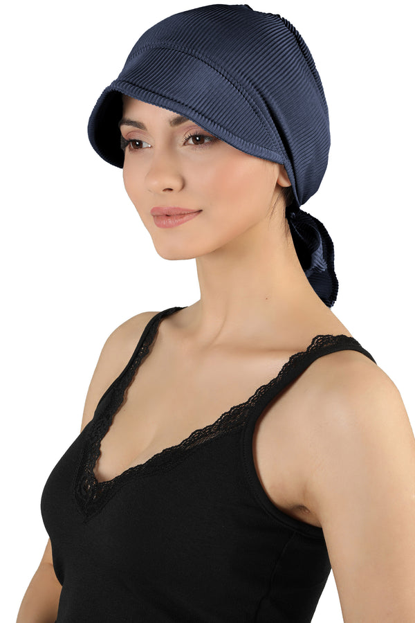 Tie Back Casual Pretty Hat - Navy