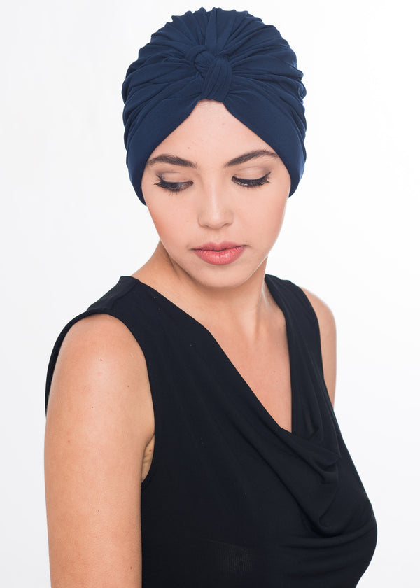 W Turban- Navy (Exclusive)