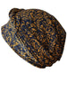 Easy Tie Head scarf (Navy Mustard Printed)