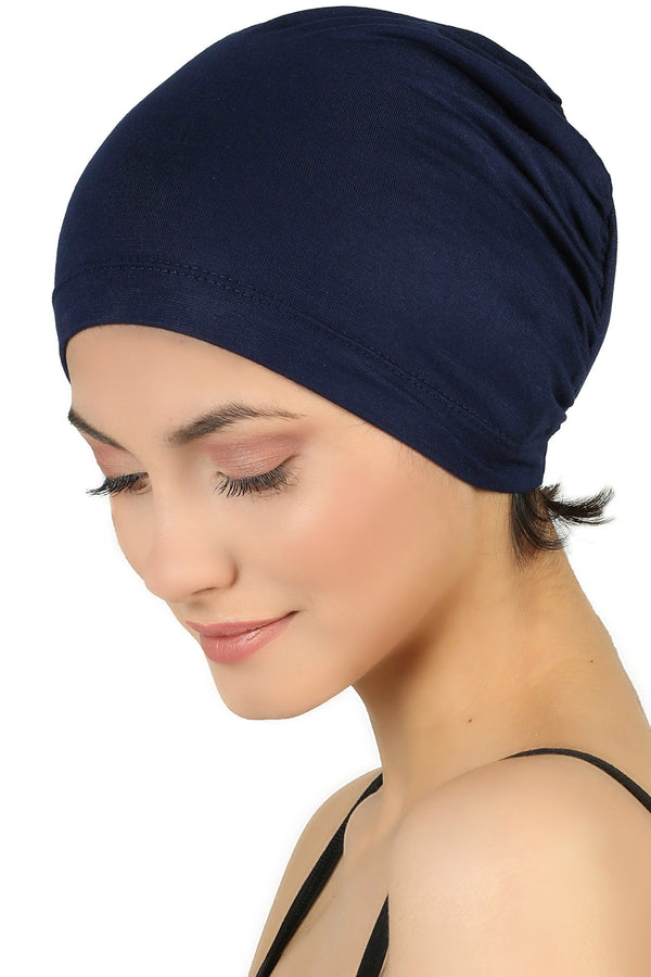 Essential Plain Cotton Cap - Navy