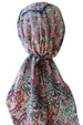 Easy Tie Head scarf (203 Navy Burgundy Micro Floral)