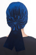 Velour Beaded Headwear - Midnight Blue