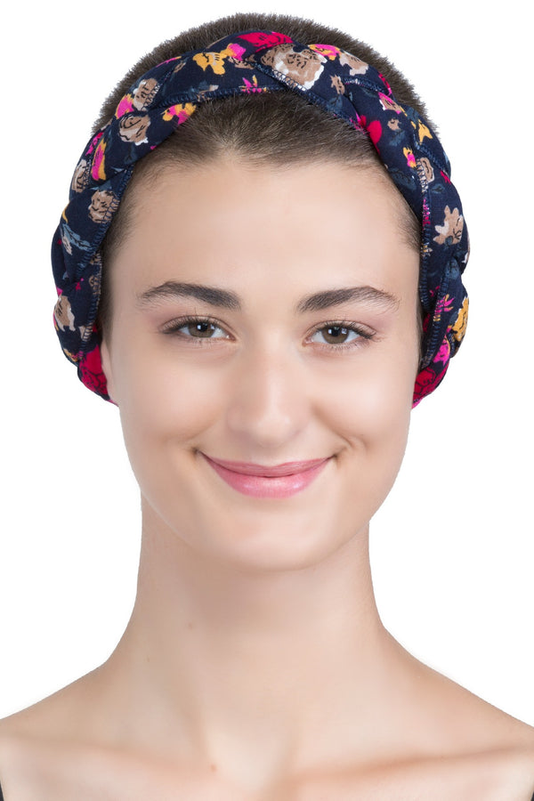 Braided Hairband, Headband (Navy Mink)