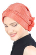 Deresina Braided beaded hat for hairloss for hairloss orange