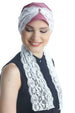 Deresina diamond patterned chemo turban paris pink cream