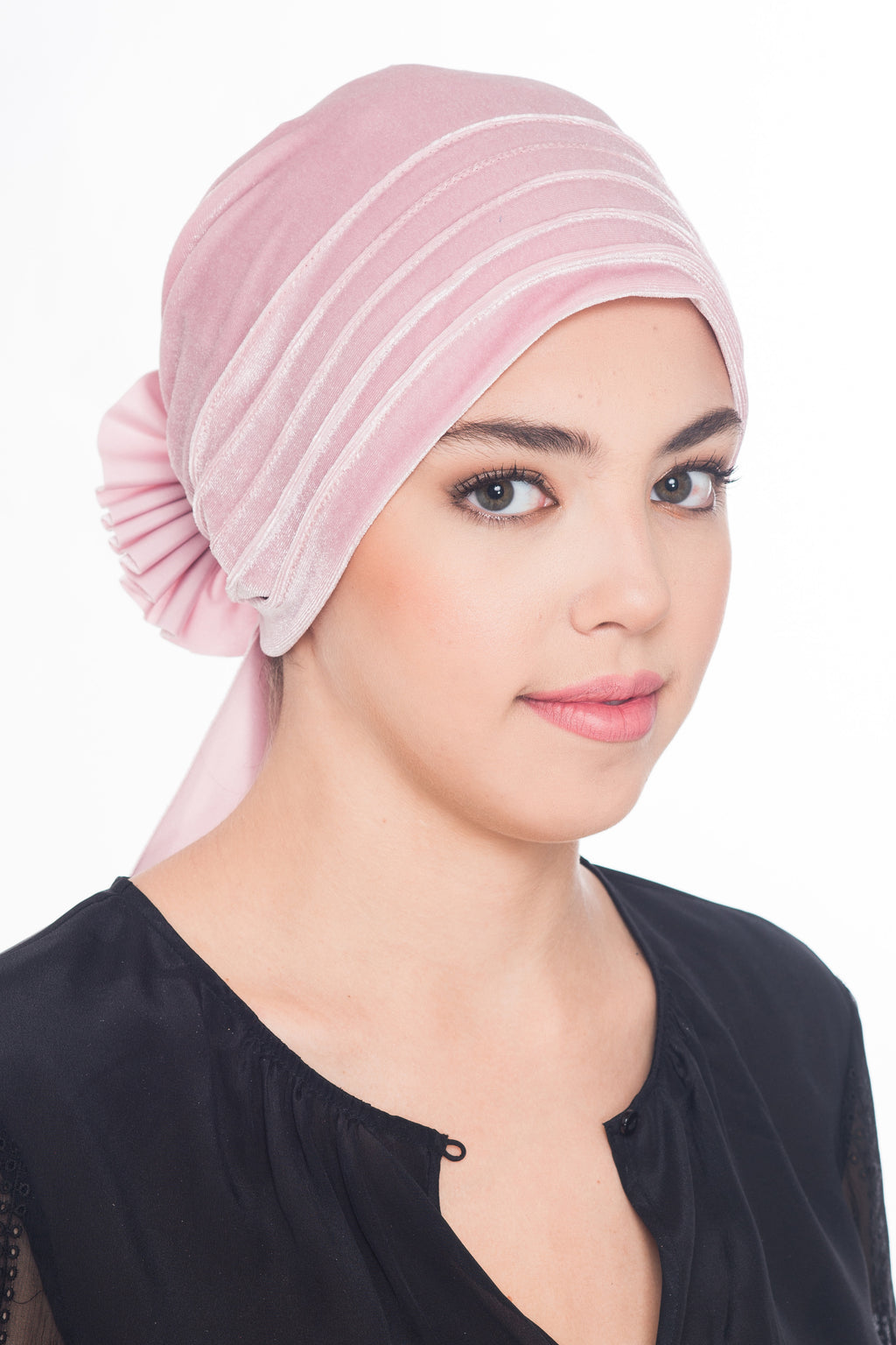 Velour Beaded Headwear - Powder
