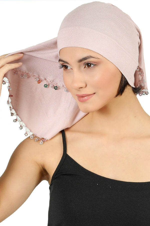 No-Tie Bandana - Powder Pink