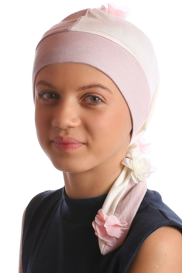 Deresina elf beanie for hairloss powder pink cream
