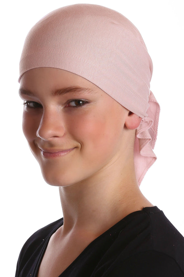Deresina Teen indoor bandana for hairloss powder pink