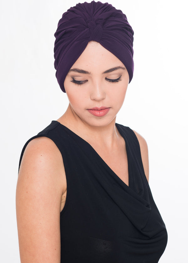 W Turban- Purple (Exclusive)