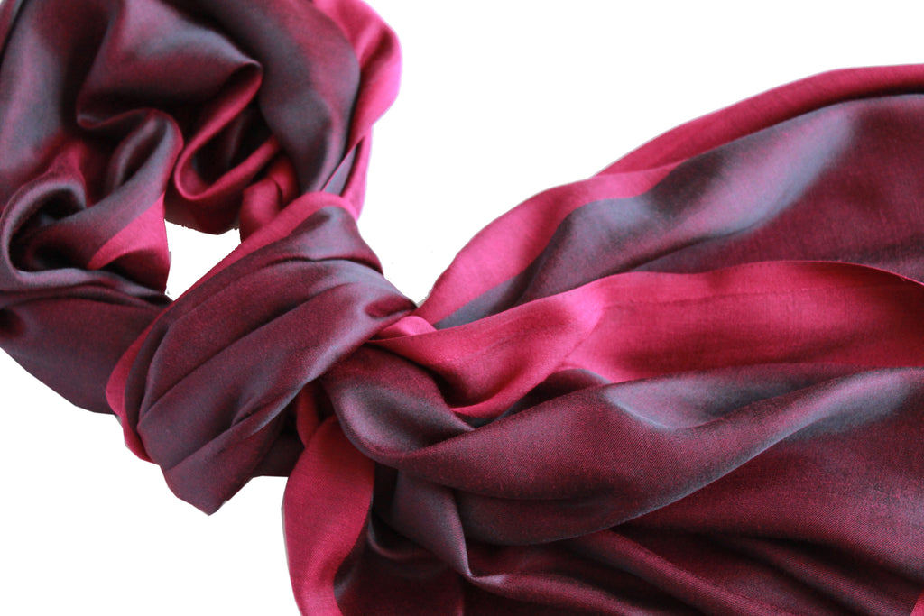 Reversible Long Scarf - Deep Purple