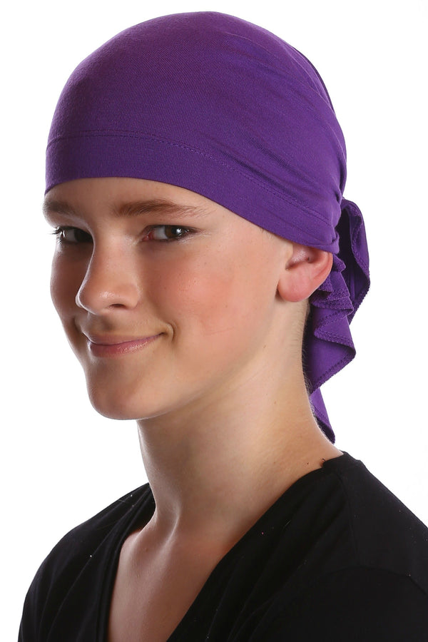 Deresina Teen indoor bandana for hairloss purple
