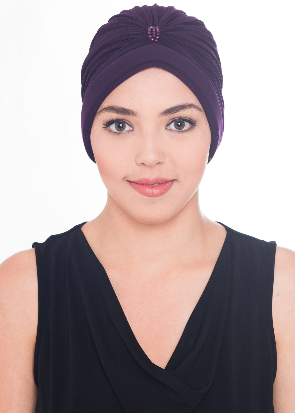 Pearl Turban- Mulberry (Exclusive)