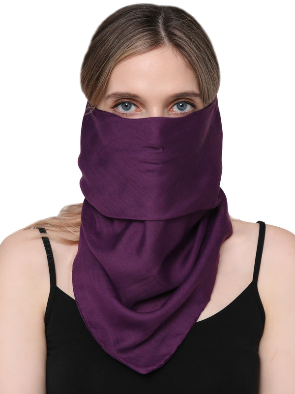 Unisex Scarf Face Mask, Headscarf, Neckscarf, Bandana- Purple