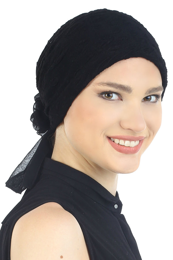 Flower Headwear -Black