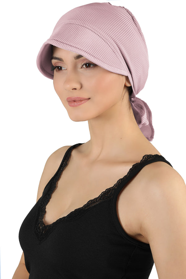 Tie Back Casual Pretty Hat - Rose Pink